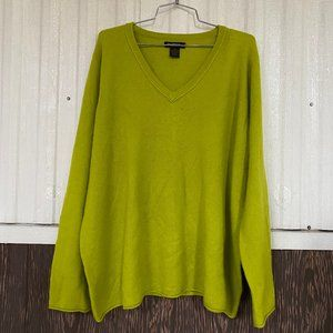Philosophy vneck 100% cashmere sweater size 3X